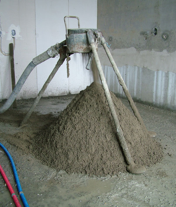 Zand en Cement vloer